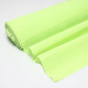 Thick Crepe paper, Light green, 40cm x 50cm, 85 gsm, 1 sheet, (CR147)